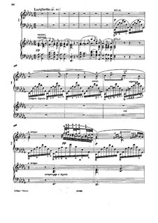Piano Concerto in F Minor, Op.16: Movement II, for two pianos four hands by Adolf von Henselt