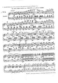 Rezia's Aria: Piano score by Carl Maria von Weber
