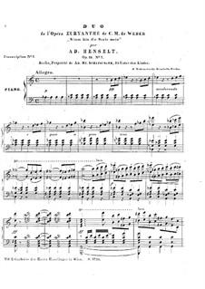 Akt II Nr.13 Nimm hin die Seele mein: For piano by Carl Maria von Weber