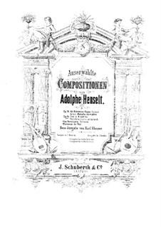 Piano Trio, Op.24: Full score by Adolf von Henselt