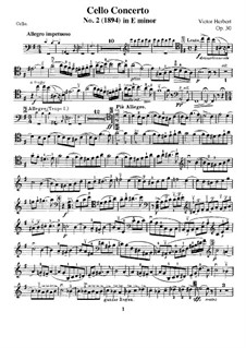 Concerto for Cello and Orchestra No.2, Op.30: Version for cello and piano – solo part by Victor Herbert