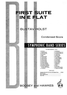 Two Suites for Military Band, Op.28: Suite No.1, for piano by Gustav Holst
