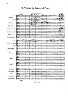 Complete Suite: Movement II – full score by Gustav Holst
