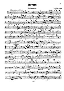 Septet No.1 in D Minor, Op.74: Cello I part by Johann Nepomuk Hummel