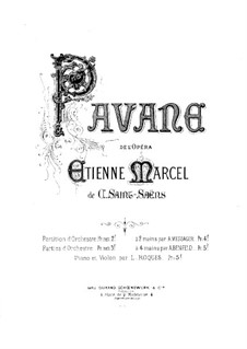 Etienne Marcel: Pavana, for Violin and Piano by Camille Saint-Saëns