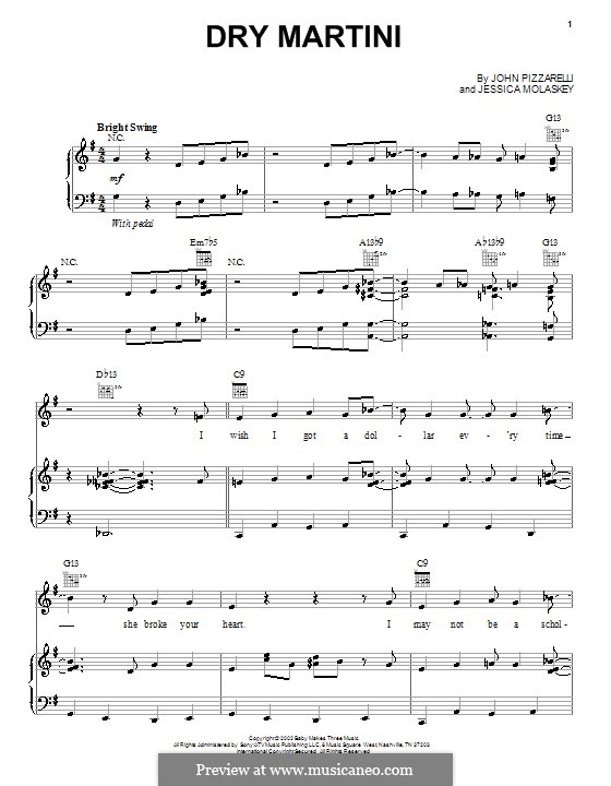 Dry Martini: For voice and piano (or guitar) by Jessica Molaskey