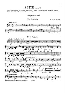 Suite in old Style, Op.24: Parts by Vincent d' Indy
