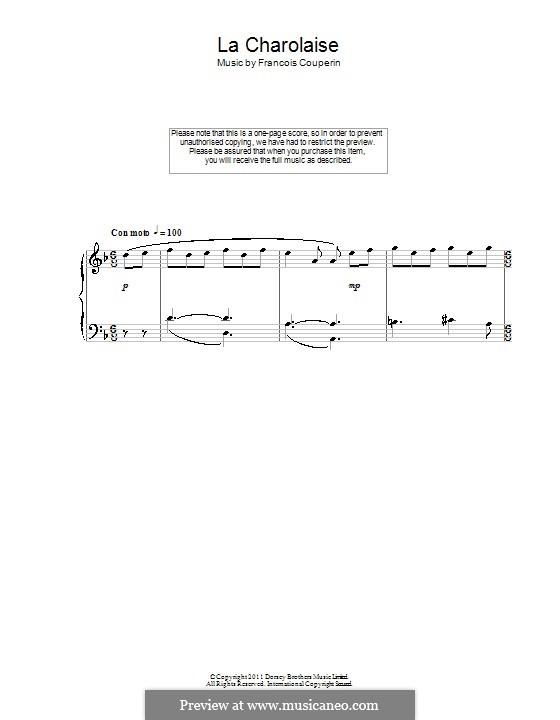 Deuxième ordre: La Charolaise, for piano by François Couperin