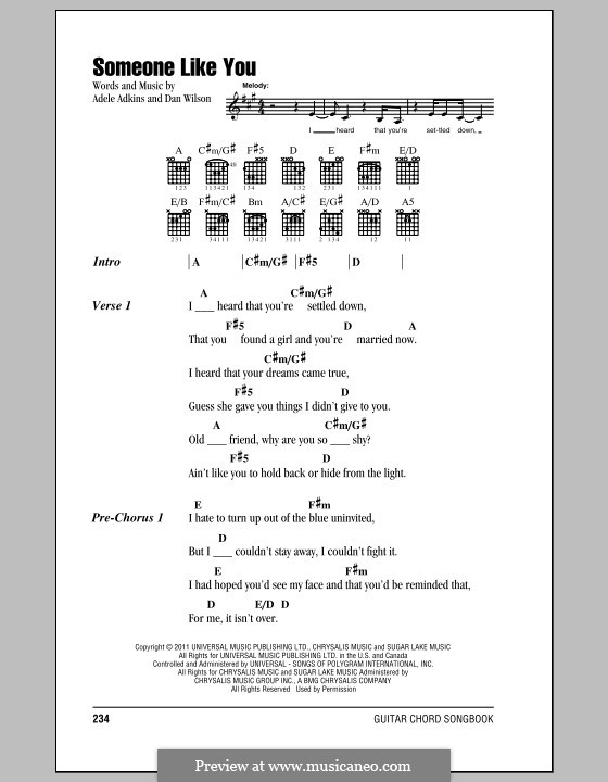 Someone Like You By Adele D Wilson Sheet Music On Musicaneo