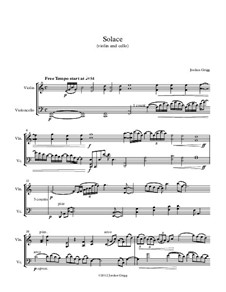 Solace (violin and cello): Solace (violin and cello) by Jordan Grigg