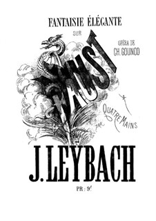 Fantasia on Themes from 'Faust by Gounod, Op.35: For piano four hands by Joseph Leybach