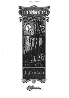 Nocturne No.5 in A Flat Major, Op.52: For piano by Joseph Leybach