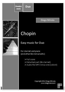 Chopin: Duo pack Bb. For piano and clarinet (or other Bb instruments) by Diego Minoia