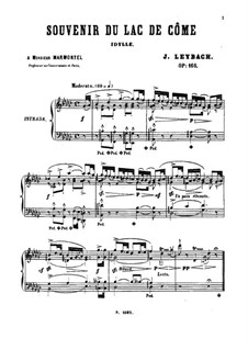 Souvenir du Lac de Côme, Op.168: For piano by Joseph Leybach