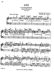Gigue in D Minor: For piano by Johann Mattheson
