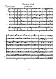 Christmas Medley: A String Orchestra. Arrangement for Elementary to Middle School Age Youth Orchestras!: Score by folklore, Franz Xaver Gruber, James Lord Pierpont, Walter 'Jack' Rollins