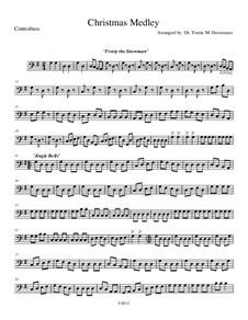Christmas Medley: A String Orchestra. Arrangement for Elementary to Middle School Age Youth Orchestras!: Double bass part by folklore, Franz Xaver Gruber, James Lord Pierpont, Walter 'Jack' Rollins