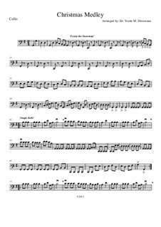 Christmas Medley: A String Orchestra. Arrangement for Elementary to Middle School Age Youth Orchestras!: Cello part by folklore, Franz Xaver Gruber, James Lord Pierpont, Walter 'Jack' Rollins