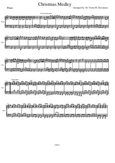 Christmas Medley: A String Orchestra. Arrangement for Elementary to Middle School Age Youth Orchestras!: Rehearsal piano part by folklore, Franz Xaver Gruber, James Lord Pierpont, Walter 'Jack' Rollins