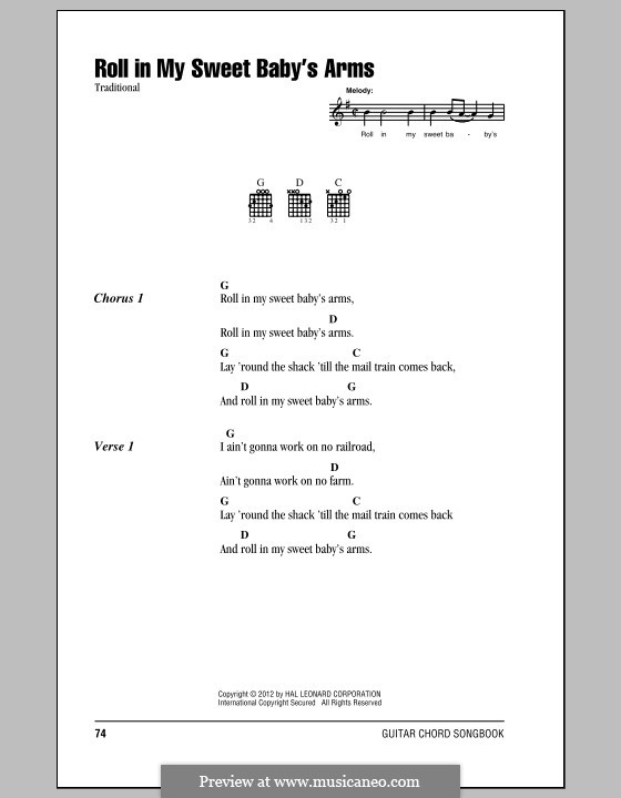 Roll in My Sweet Baby's Arms: Lyrics and chords by folklore