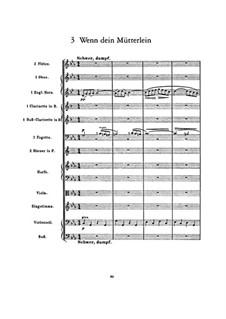 Kindertotenlieder (Songs on the Death of Children): No.3 Wenn dein Mütterlein (When your mother) by Gustav Mahler
