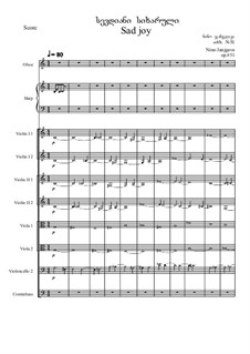 Concerto for Oboe, Harp and chamber orchestra, Op.51: Full score by Nino Janjgava