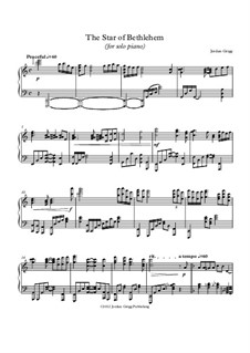 The Star of Bethlehem (for solo piano): The Star of Bethlehem (for solo piano) by Jordan Grigg