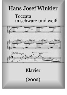 Toccata in black and white: Toccata in black and white by Hans Josef Winkler