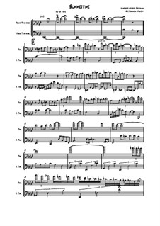 Summertime: For two trombones by George Gershwin