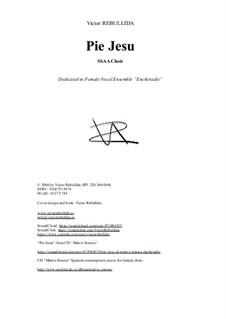 Pie Jesu: For female vocal ensemble by Victor Rebullida