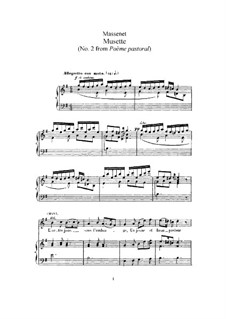 Musette: For high voice and piano by Jules Massenet
