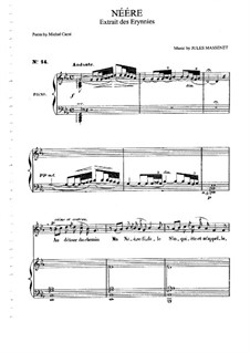 Néére: For medium voice and piano by Jules Massenet
