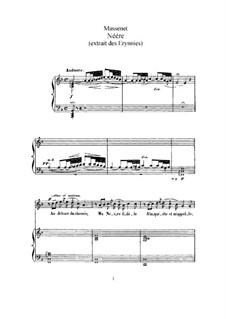 Néére: For high voice and piano by Jules Massenet