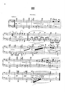 Suite for Piano Four Hands, Op.11: Movement III by Jules Massenet