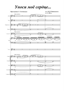 Two Romances, TH 96: No.1 Take My Heart Away, for voice and orchestra by Pyotr Tchaikovsky