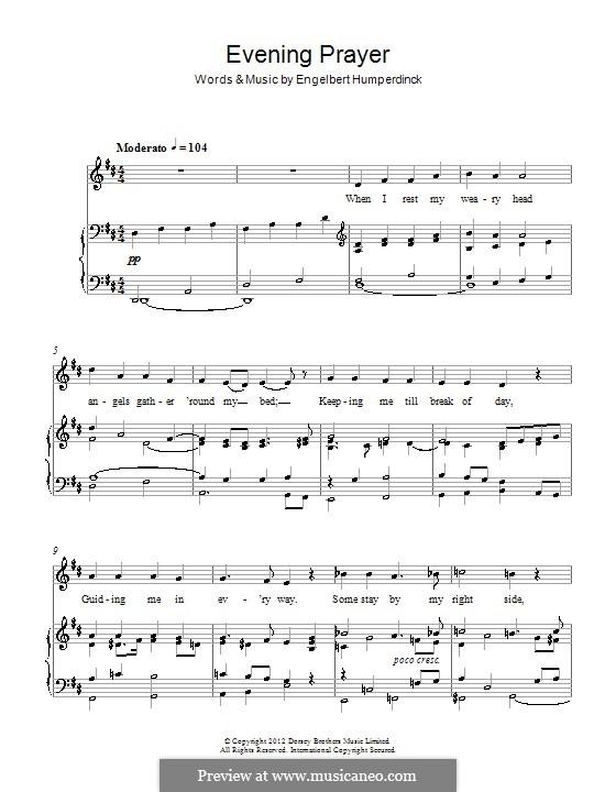Evening Prayer: For voice and piano by Engelbert Humperdinck