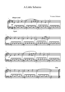 A Little Scherzo: A Little Scherzo by Yvonne Johnson