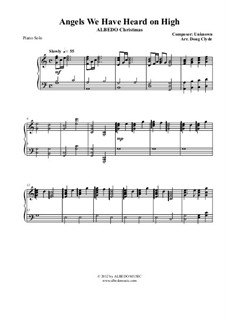 Angels We Have Heard on High: For piano, AMSM77 by Unknown (works before 1850)
