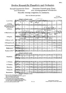 Piano Concerto No.2, S.125: Full score by Franz Liszt