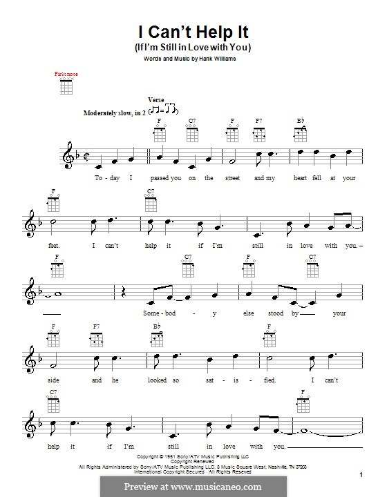 I Can't Help It (If I'm Still in Love with You): For ukulele by Hank Williams