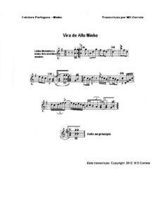 Vira Geral: For accordion (or piano) by folklore