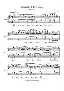 Sonata No.2 in C minor, Op.3: II. Andante by Peter Michel Gebara