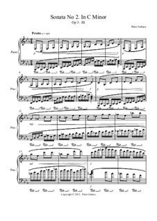 Sonata No.2 in C minor, Op.3: III. Presto by Peter Michel Gebara