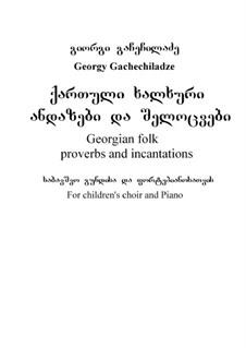 Georgian folk proverbs and incantations: Georgian folk proverbs and incantations by George Gachechiladze
