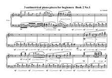 3 antimetrical piano pieces for beginners: Piece No.1, book II, MVWV 357 by Maurice Verheul