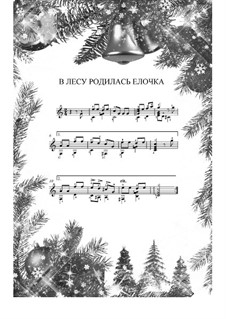 The Forest Raised a Christmas Tree: For guitar by Leonid Bekman