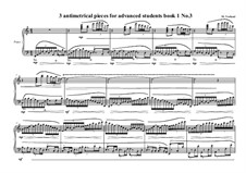3 antimetrical piano pieces for advanced students: Piece No.3, book I, MVWV 362 by Maurice Verheul