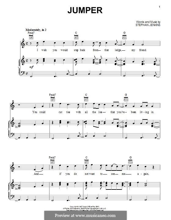 Jumper Third Eye Blind By S Jenkins Sheet Music On Musicaneo