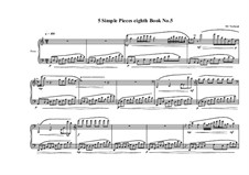 5 Simple pieces for piano: Eighth book No.5, MVWV 722 by Maurice Verheul