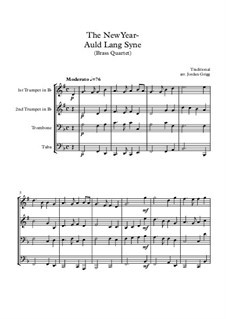 Auld Lang Syne: For brass quartet by folklore